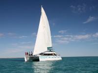 Shore thing under sail at Ningaloo Reef